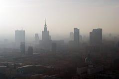 Panorama von Warschau lizenzfreie stockfotos