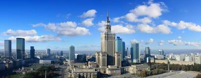 Panorama von Warschau Stockfotografie