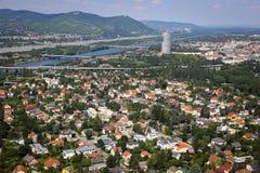 Panorama von Wien-Stadt im Sommer Lizenzfreie Stockfotografie