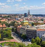 Panorama von Zagreb Stockbild