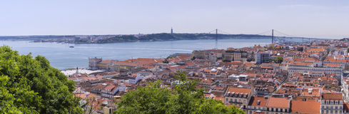 Panorama von zentralem Lissabon, Portugal stockbild