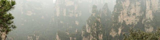 Panorama von Zhangjiajie Stockbilder
