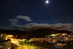 Panorama Vrangel de la luna Imagenes de archivo