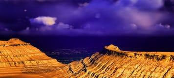 Panorama vulcanico del paesaggio Immagine Stock