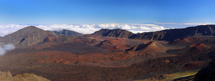 Panorama-Vulkan Haleakala, Hawaii (Maui) Stockfotos