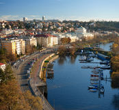 Panorama from Vyshegrad in Prague Royalty Free Stock Images