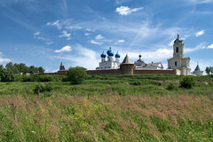Panorama of Vysotsky Monastery from Nara River Royalty Free Stock Image