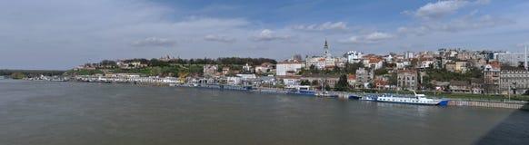 panorama w belgradzie Serbii Obrazy Royalty Free