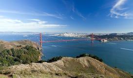 Panorama W de San Francisco le pont en porte d'or Image stock