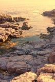 Panorama w losu angeles Conca, San Pietro s wyspie - Zdjęcie Royalty Free