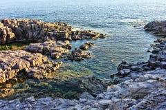 Panorama w losu angeles Conca, San Pietro s wyspie - Zdjęcia Royalty Free