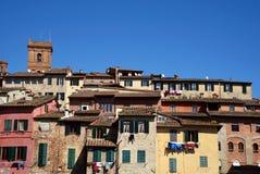 Panorama włoscy domy Zdjęcie Stock