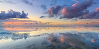 Panorama at Wadden sea in Netherlands stock photos