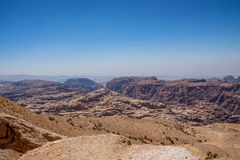 Panorama of the Wadi Musa near Petra, Jordan Royalty Free Stock Image
