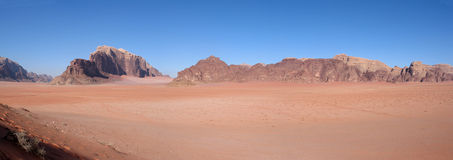 Panorama of wadi rum Royalty Free Stock Image