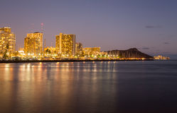 Panorama of Waikiki Honolulu Hawaii Stock Photography