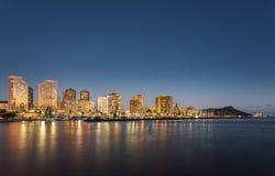 Panorama of Waikiki Honolulu Hawaii Royalty Free Stock Image