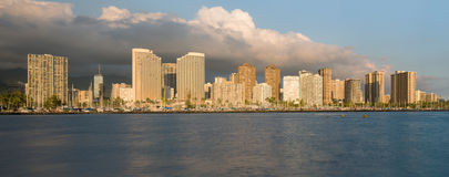 Panorama of Waikiki Honolulu Hawaii Stock Image