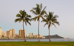 Panorama of Waikiki Honolulu Hawaii Stock Images