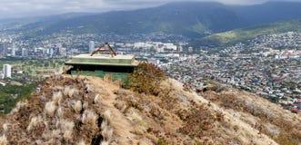 Panorama mountains behind Waikiki Stock Photo