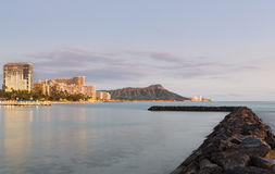 Panorama of Waikiki Oahu Hawaii Royalty Free Stock Photos