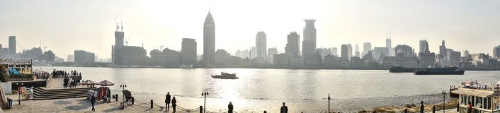 Panorama waitan de Shanghai Foto de Stock