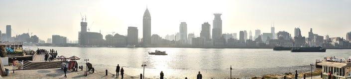 Panorama waitan di Schang-Hai Fotografia Stock