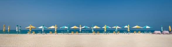Panorama, Waiting for the Season, Dubai, Feb.2018. Panorama, Waiting for the Season, Sand Beach, Dubai, United Arab Emirates, Feb.2018 Royalty Free Stock Photography