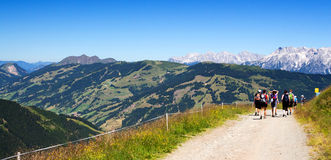 Panorama. Walk in Zell am See royalty free stock photos