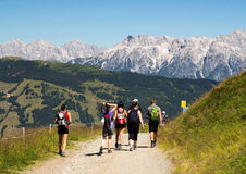 Panorama. Walk in Zell am See royalty free stock image