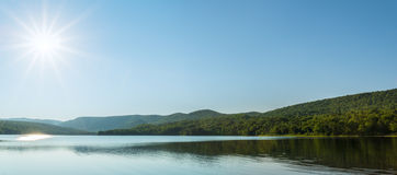 Panorama of Warren lake Stock Image