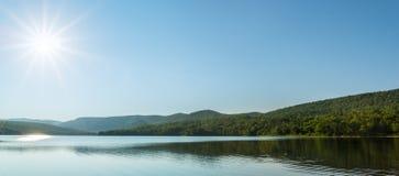 Panorama of Warren lake Stock Image