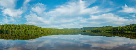 Panorama of Warren lake Stock Images