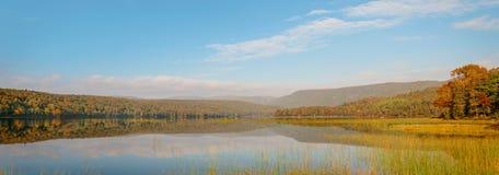Panorama of Warren lake in the fall Royalty Free Stock Photos