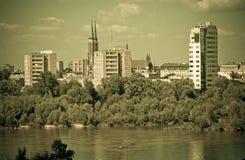 Panorama of Warsaw Royalty Free Stock Photos