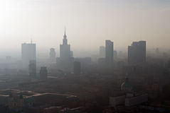 Panorama of Warsaw Royalty Free Stock Photos
