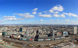 Panorama of warsaw Royalty Free Stock Images