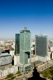 Panorama of Warsaw Royalty Free Stock Photo