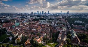 Panorama of Warsaw from above. royalty free stock images