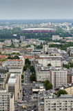 Panorama of Warsaw City Royalty Free Stock Photography