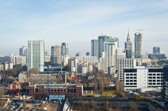 Panorama of Warsaw city Royalty Free Stock Image