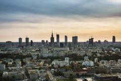 Panorama of Warsaw city, Poland Stock Photos
