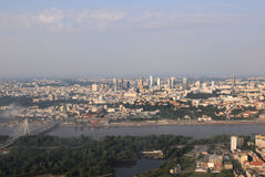 Panorama of Warsaw City Stock Images