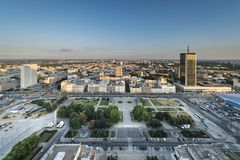 Panorama of Warsaw city, Poland Royalty Free Stock Images