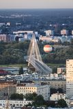Panorama of Warsaw city, Poland Royalty Free Stock Photo