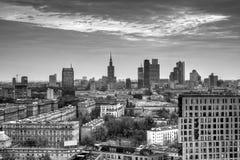 Panorama of Warsaw Royalty Free Stock Images