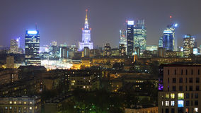 Panorama of Warsaw Stock Photography