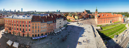 Panorama of Warsaw old town Royalty Free Stock Photos