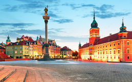 Panorama of Warsaw old town, Poland Stock Photography
