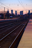 Panorama of Warsaw, Poland Royalty Free Stock Photography